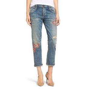 Citizens of Humanity Distressed Embroidered Jeans